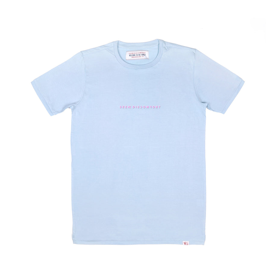 Light Blue / Pink Logo Staple Tee