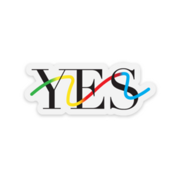 Yes Squiggly Sticker (2.5
