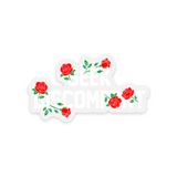 "Seek Discomfort Roses Sticker (2.67"" x 1.5"")"
