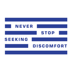 Never Stop Seeking Discomfort Sticker (Clear)