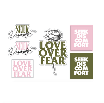Seek Discomfort Sticker Pack