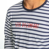 Seek Discomfort Limited Edition Navy Stripes Long Sleeve