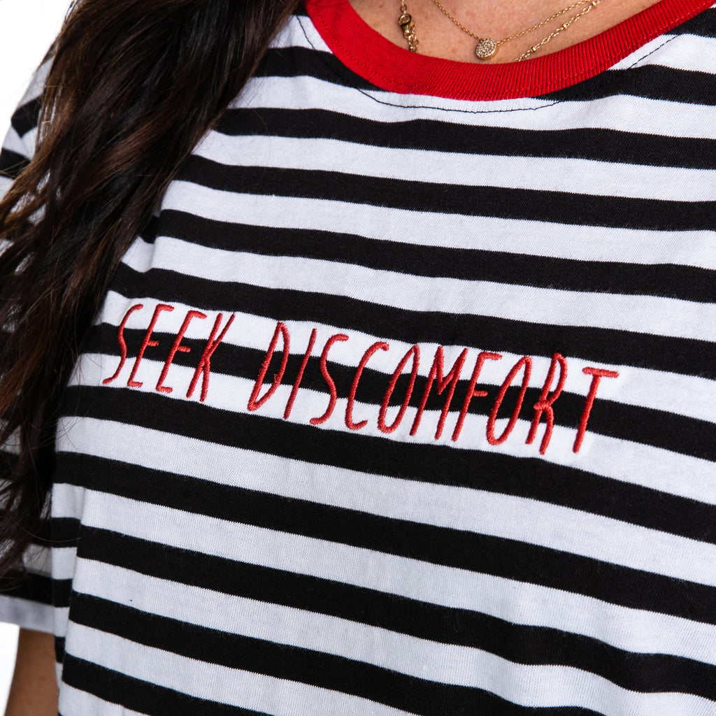 Seek Discomfort Limited Edition Black Stripes T-Shirt