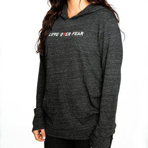 Seek Discomfort Love Over Fear Marathon Pullover