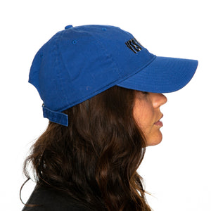 Seek Discomfort Wavy Yes Theory Royal Blue Dad Cap