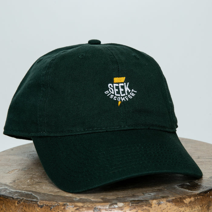 Seek Discomfort Thunder Bolt Dad Hat (Alpine Green)