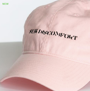 Seek Discomfort Dad Hat (Baby Pink)