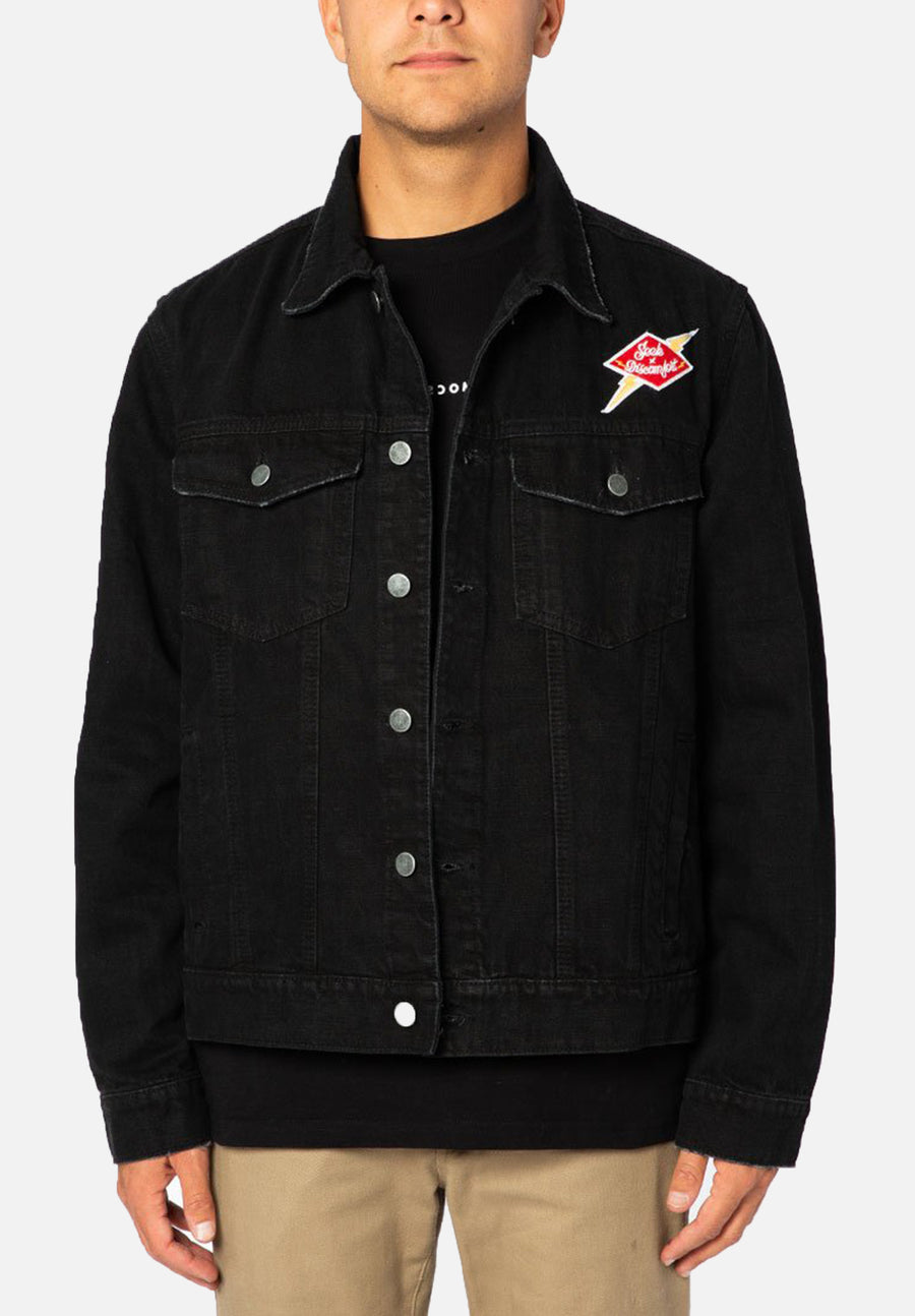 Black Seek Discomfort Denim Jacket