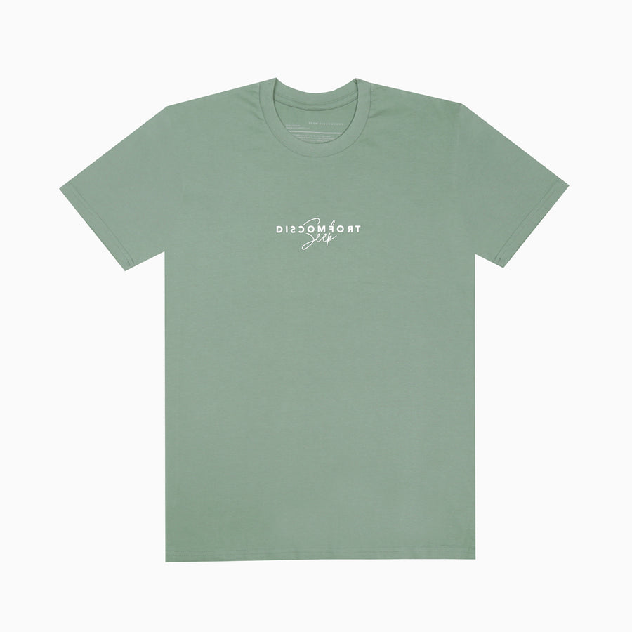Olive Green / White Love Over Fear Short Sleeve Tee