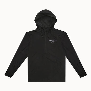 Black / White Signature Logo Pullover Windbreaker