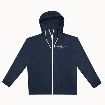 Navy / White Signature Logo Windbreaker