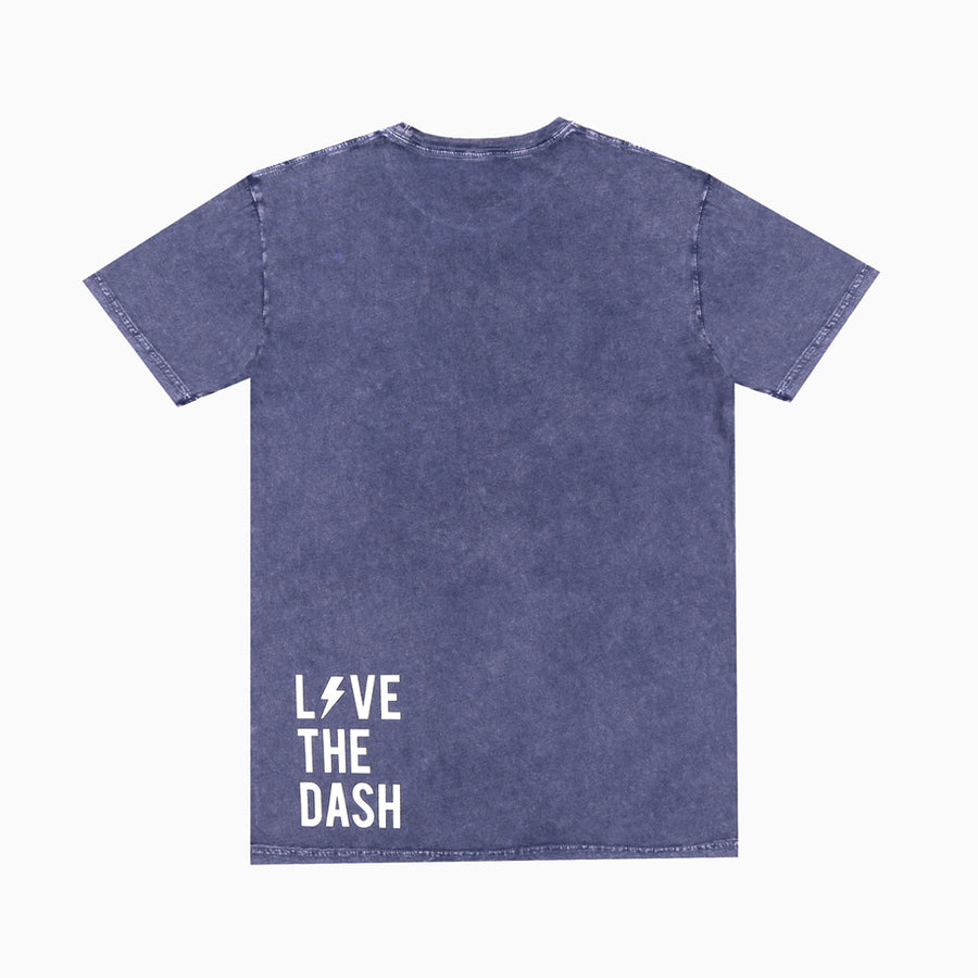 Blue Stone / White Live The Dash Short Sleeve Tee