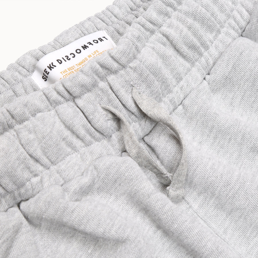 Heather Gray / Black Logo Staple French Terry Sweat Pant