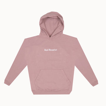 Mauve Drop Shoulder French Terry Hoodie