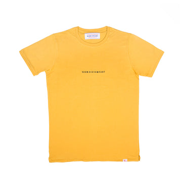 Mustard / Black Logo Staple Tee
