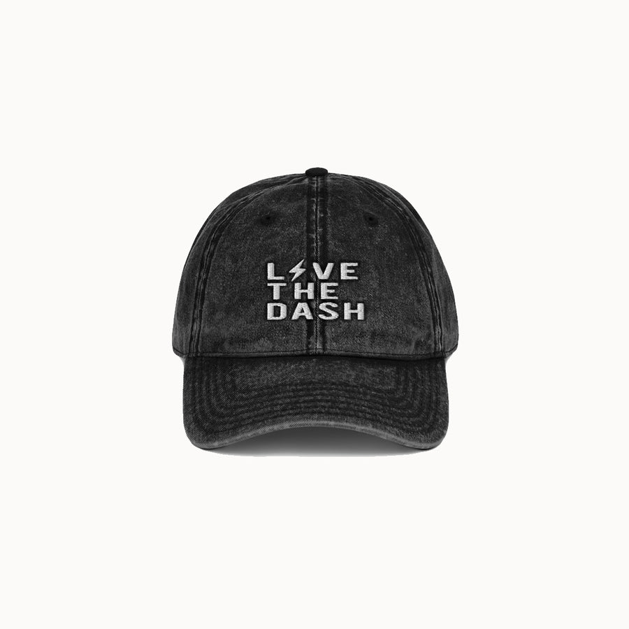 Faded Black Live the Dash Dad Hat