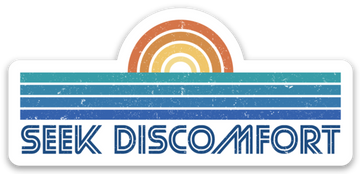 Seek Discomfort Beachfront Sticker