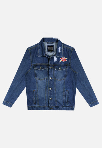 Dark Wash Seek Discomfort Denim Jacket