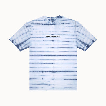 Blue Tie Dye / Black Logo Short Sleeve Tee