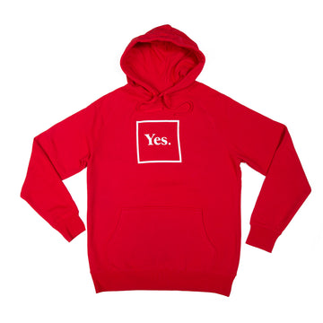 Red / White Yes Logo Hoodie