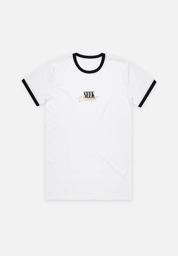 Black / White Seek Ringer Tee