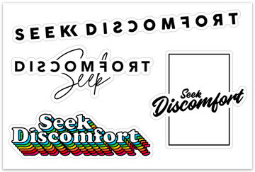 Seek Discomfort Sticker Pack 2