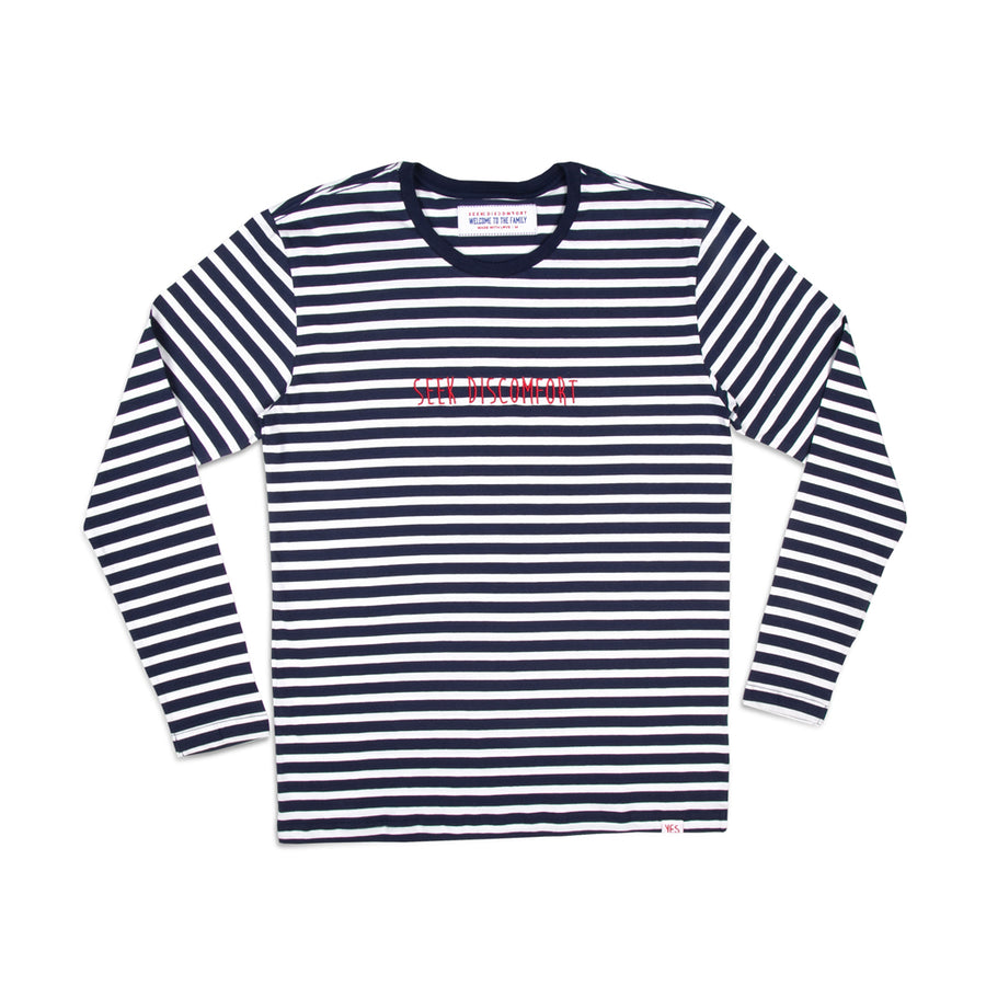 Navy/White Striped Long Sleeve Tee