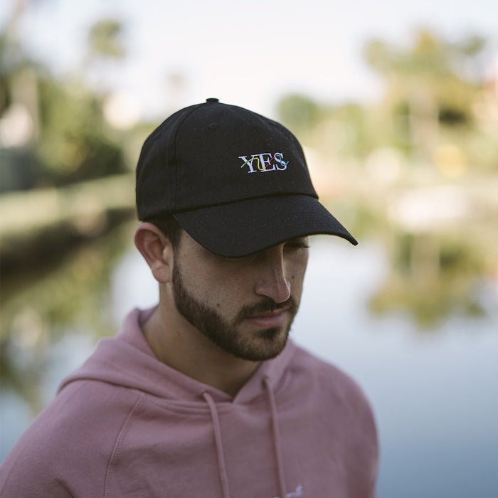 Yes Squiggly Dad Hat (Black)