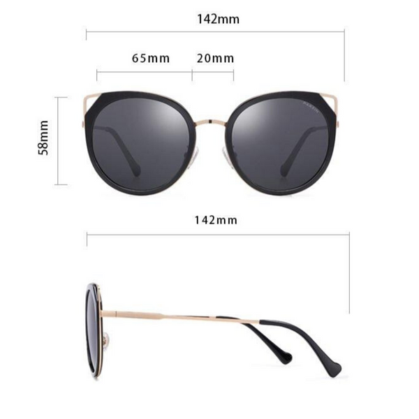 Round Cat Eye Sunglasses P9916