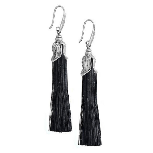 Flower Long Tassel Earrings