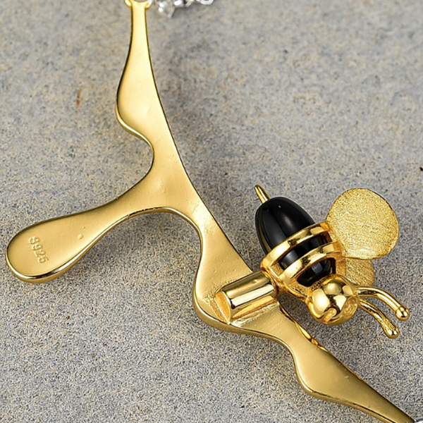 Bee Love- Honey Bee Necklace