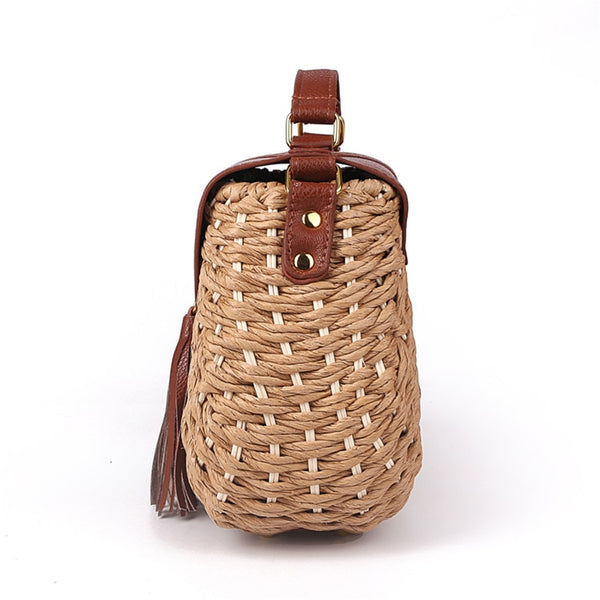 Tassel Straw Bag Side