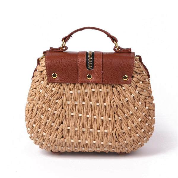 Tassel Straw Bag Back