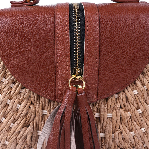 Tassel Straw Bag Details