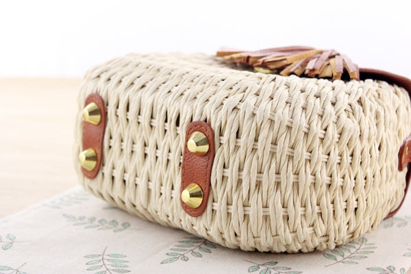 Tassel Straw Bag Bottom