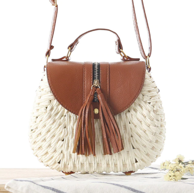 Tassel Straw Bag-White Handbag