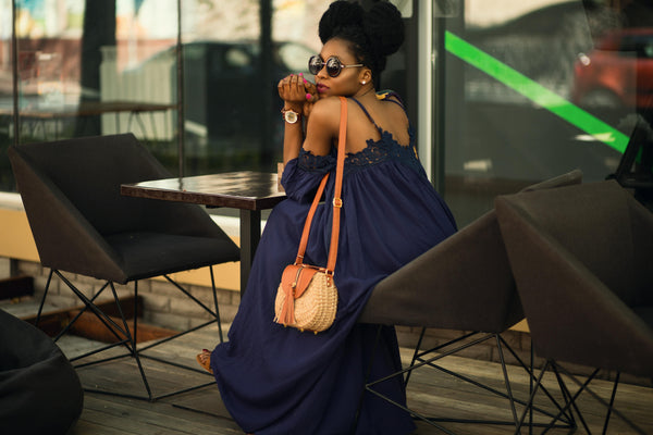 Tassel Straw Bag Look