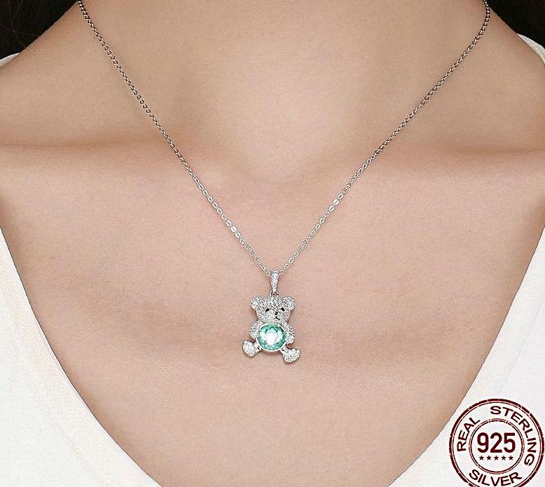 Bear Love Pendant Necklace- Styles Available