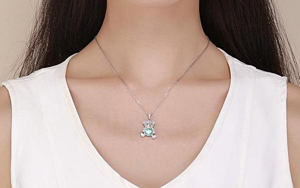 Lovely Bear Pendant Necklace
