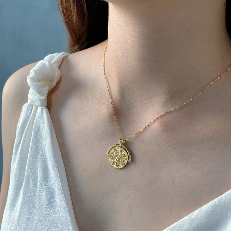 Constellation Coin Necklace Look