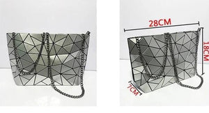 Geometric Messenger Handbag