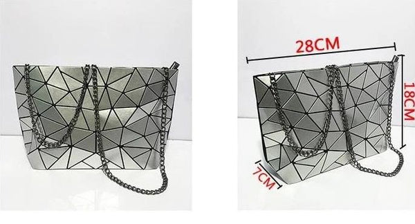Geometric Messenger Handbag Size