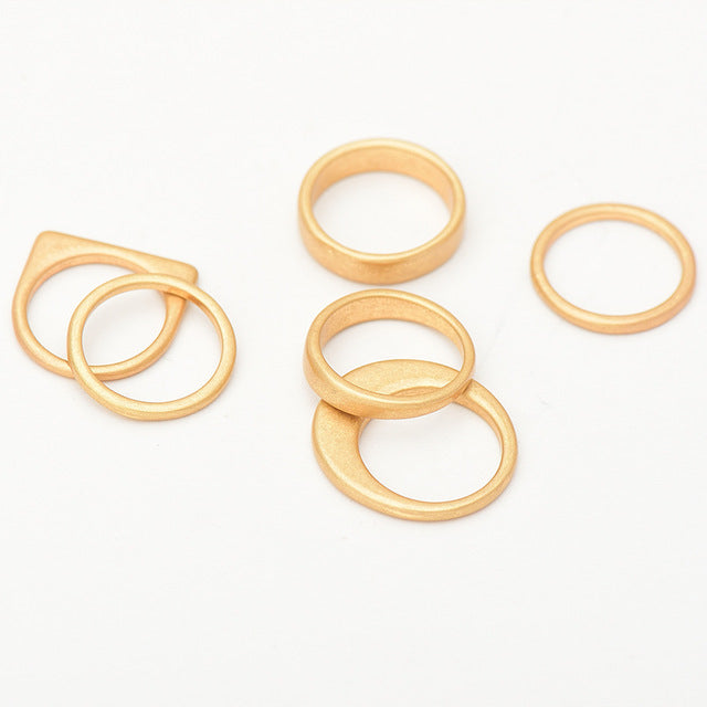 Vintage Plain Knuckle Ring Set - Two Tone Available