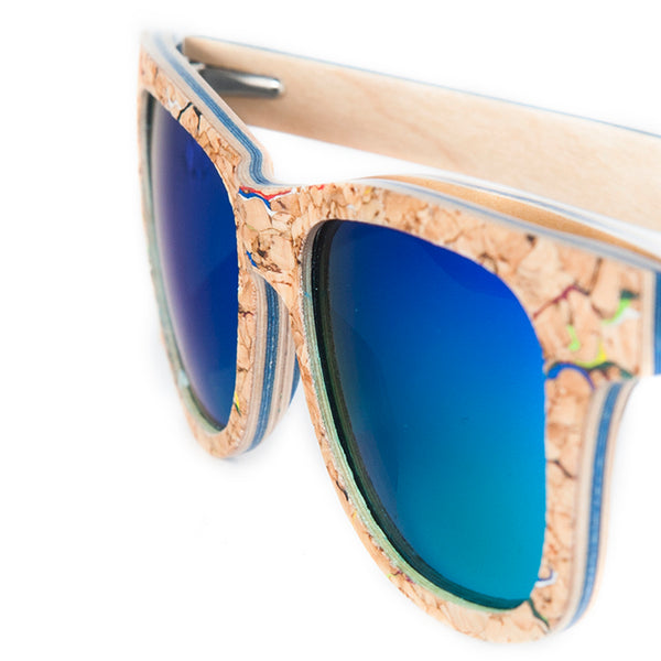 Square Bamboo Wood Sunglasses-Colors Available