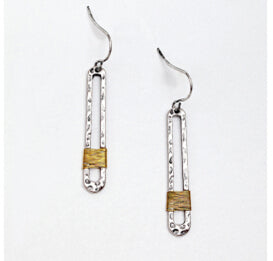 Wire Threads Dangle Earrings