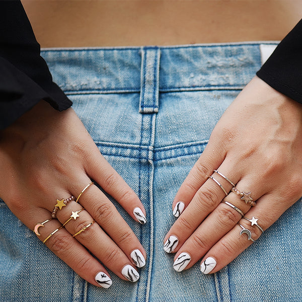 Bohemian Ring Set- Two Tone Available