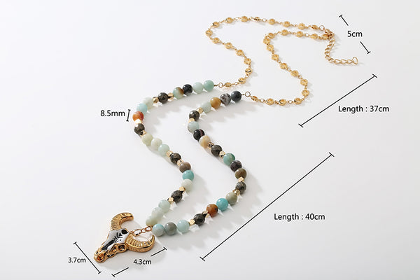 Skull Bohemian Long Necklace
