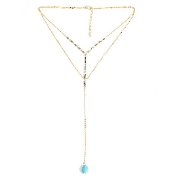 Two Layers Long Necklace