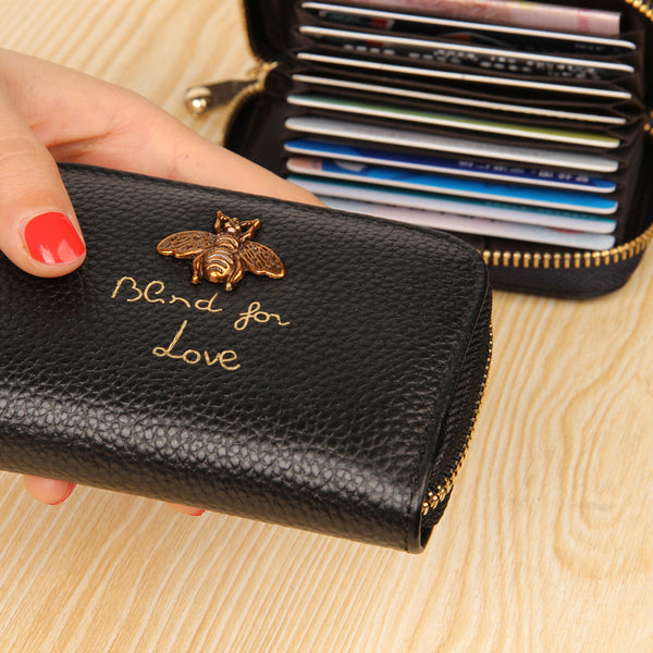 Bee Charm Card Holder Wallet Inner