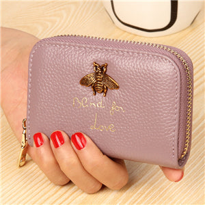 Bee Charm Card Holder Wallet Lavander